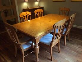 Dining table, 6 chairs and sideboard for sale