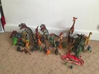 Large collection of dinosaurs