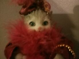 Vintage porcelain cat doll