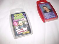 Simpsons Top Trump horror glow in the dark case and smash hits top trumps