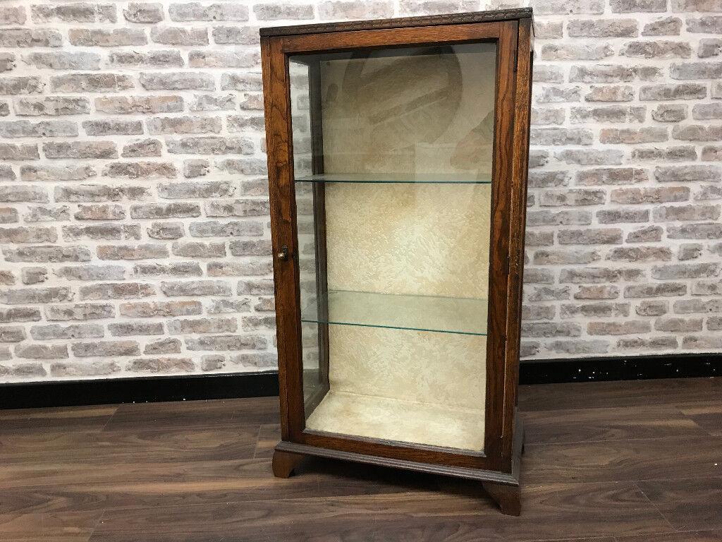 A glazed display cabinet