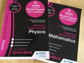 SQA Advanced Higher Maths and Physics Model Papers