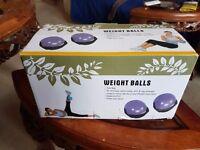 Pilates weight balls - brand new
