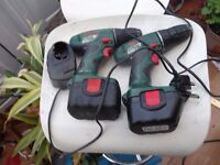 2 Bosch Cordless Drill 14.4 and 12V WITH 2 x 14.4 BATTERIES AND 1 CHARGER.