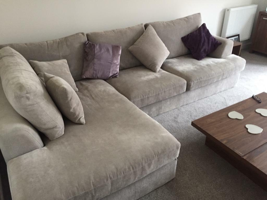 Next Corner Sofa Silver Grey In Sarisbury Green