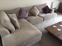 Next Corner Sofa Silver/Grey