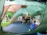 Daytona green/beige 6man tent