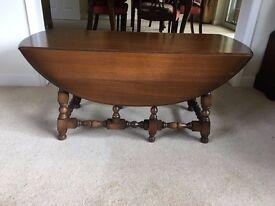 Original Ercol colonial drop leaf coffee table