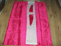 "4 x Fuschia Pink Curtains - 44"" x 54"""