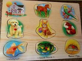 Melissa and Doug wooden sound puzzle