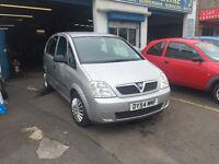 Vauxhall Meriva 1.6 Petrol 5 Door Family Car MPV Silver Very Spacious Full MOT