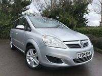 2009 (09) Vauxhall Zafira 1.6 Active 7 SEATER 75,000 MILES NEW MOT IMMACULATE FULL SERVICE HISTORY