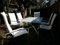 6 Seater Garden Furniture Set Table and Chairs