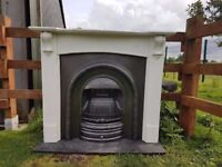 123 Cast Iron Fireplace Surround Fire White Arch Arched Antique Victorian Style
