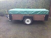 Heavy duty single axle trailer 8ftx5ft6ins