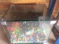 20L Curved edges Aquarium Fish Tank with Filter