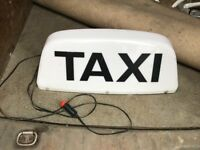 Taxi Light Up Sign - Welsh and English - Very Heavy Duty Magnets - 12v Plug