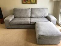 Ikea Kivik 3 seat sofa + foot stool + brand new cover