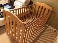 Mamas & Papas Cot Bed Wood Finish