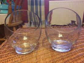 various glass vases