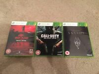 XBOX 360 Dead Island / Call of Duty: Black Ops / The Elder Scrolls V: Skyrim