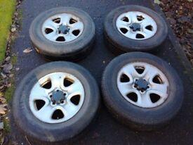 "16"" Wheels with tyres 225/70/16, 5x114.3 114.3 , Set of 4. Fit: Suzuki, Toyota, Hyundai"