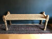 Indian Charpoy Day Bed - Antique Hallway Bench, Vintage Charpoi