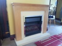 Homebase Electric Fire and Surround, perfect condition