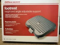 Office Depot Footrest, Height and Angle Adjustable Support, Grey, Brand New In Box