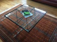 Coffee Table - black steel with glass top