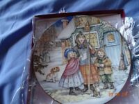 NSPCC Christmas plates all perfect in box/ plastic bag with certificates.