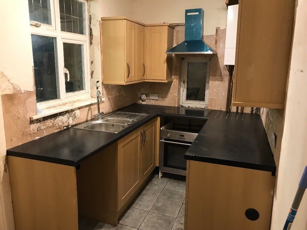 Nearly new kitchen for sale with oven hobs grab a bargain
