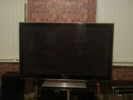 """Samsung PS50 50"""" 1080p HD Plasma television + remote control with light on buttons-mint conditions"""