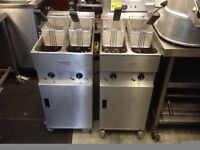 CATERING COMMERCIAL VALENTINE FRYER TWIN TANK FAST FOOD KITCHEN KEBAB CHICKEN BBQ BAR