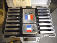A FULL SET OF FRENCH LEARNING TAPES