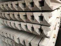 Concrete fence post, base panels, fence panels