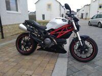 Ducati Monster 796, ABS, 2011, WHITE, 10500 MILES