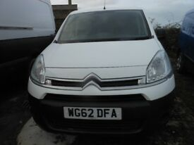CITROEN Berlingo625 Enterprise Hdi Van, 1.6 Diesel Side Sliding Door, 62,000 miles, 2012-62 plate