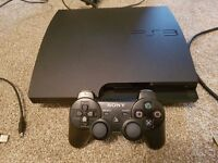 Sony PS3 slim fully working with 500gb hard drive and original sony wireless dual shock controller