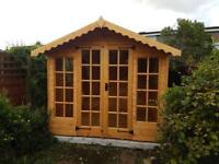 NEW High Quality 10x8 Apex roof Summer House FREE DELIVERY AND INSTALLATION