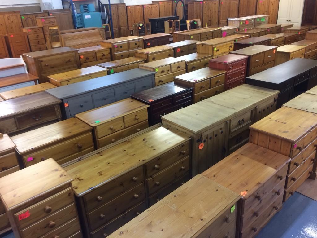 Quality used solid wood / pine household furniture