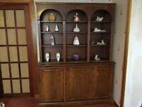 Elegant Mahogany Finish Bookcase/ Sideboard Originally Purchased in John Lewis 150cm x 41cm
