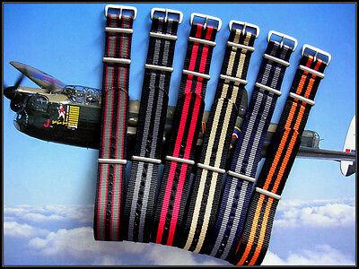 NATO G10 ® Premium Nylon RAF Military watchband strap Bond