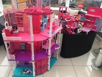 Barbie dream house and camper van !!!