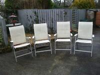 4 x Garden Patio Chairs