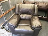 Leather recliner chairb