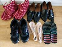 Assorted UK size 5 Europe size 38 shoes - & other stories, italian leather, Ballet flats