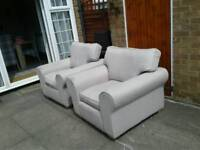 2x nice comfortable arm chairs free delivery