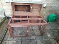 Rabbit Hutch (2 Storey) With Detachable Run - Located in Petersfield