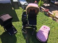 Bugaboo donkey duo good condition lots of extras will swap for stokke v4